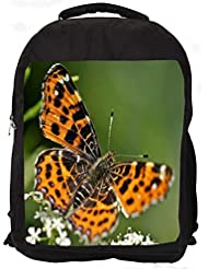"""Snoogg Abstract Multicolor Butterfly Casual Laptop Backpak Fits All 15 - 15.6"""" Inch Laptops"""