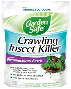 Garden Safe Crawling Insect Killer containing Diatomaceous Earth, 4-Pound, HG-93186 by United Industries Corporation