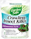 Garden Safe Crawling Insect Killer containing Diatomaceous Earth,  4-Pound, HG-93186