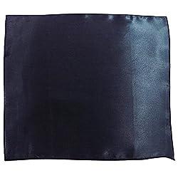 Serebroarts Solid Polyster Pocket Square Royal Blue