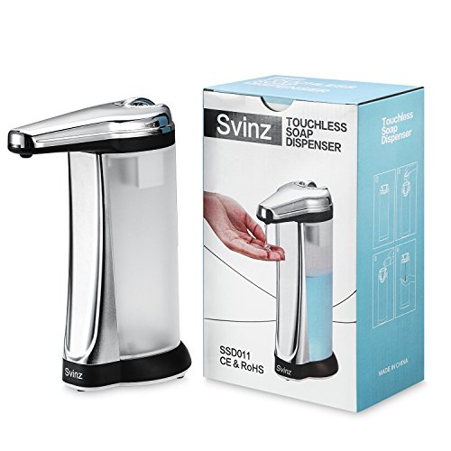 Svinz 15 OZ. Touchless Automatic Soap Dispenser Chrome - UPGRADED VERSION