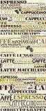 Fototapete Espresso/Cafeteria - Synonyme für Kaffee-Sorten - Größe 91 x 254 cm, 2-teilig