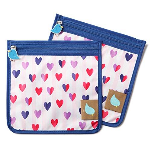 Reusable Storage, Sandwich, & Snack Bag (2 Count), Hearts