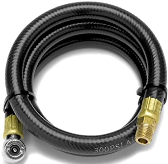 Performance Tool W10057 4 FT Air Hose With Tire Chuck