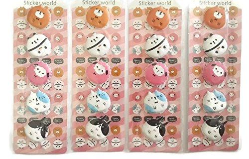 3D DIY Decorative Adhesive Sticker - 4 sheets (Size: 19 cm x 6 cm) (Disney Crown Car Emblem compare prices)
