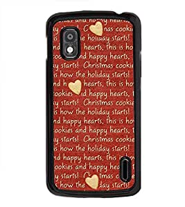 Printvisa Hearts 2D Hard Polycarbonate Designer Back Case Cover For Lg Nexus 4 E960 :: Lg Nexus 4 :: Lg Mako