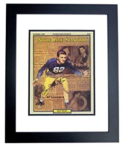 Leon Hart Autographed Hand Signed Notre Dame Fighting Irish 8x10 Photo - BLACK CUSTOM... by Real+Deal+Memorabilia