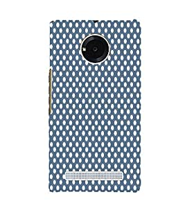 Dark Blue Royal Dots 3D Hard Polycarbonate Designer Back Case Cover for YU Yuphoria YU5010