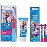 SPAR-SET: 1 Braun Oral-B Stages Power AdvancePower Kids 900 TX elektrische Akku-Zahnbuerste Kinder 3+ J. D12.513.K Disney Frozen Die Eiskönigin