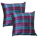 Home Kouture Polyester Set Of 2 Checkmate Cushion Cover; Multicolored, 40.64 X 40.64 CM
