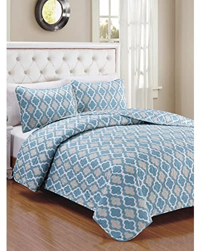 Luxury Home 3-Piece Cardston Quilt Set