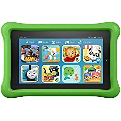 "Fire Kids Edition Tablet, 7"" Display, Wi-Fi, 16 GB, Green Kid-Proof Case"