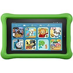 "Fire Kids Edition Tablet, 7"" Display, Wi-Fi, 16 GB, Green Kid-Proof Case"