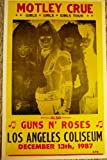 Ron's Past and Present Motley Crue Girls Girls Girls Tour L.A. Coliseum Concert Poster