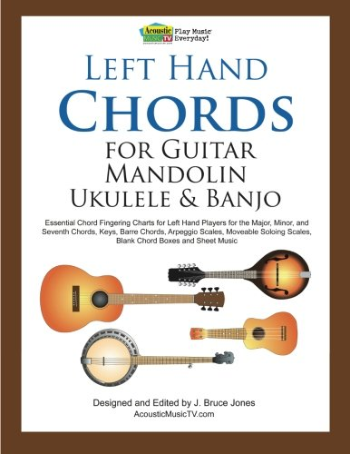 Left Hand Chords for Guitar, Mandolin, Ukulele and Banjo by J. Bruce Jones (Paperback)
