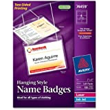 Avery Insertable 3 x 4 Inch White Name Badges 100 Count (74459)