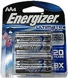Energizer L91BP4 AA Lithium Batteries 4-Count, Lasts 9 Times Longer