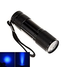 Dragonpad Black Ultra Violet 9 LED Blacklight Inspection Flashlight for Scorpion Hunting, Security Checks, Hotel Inspections