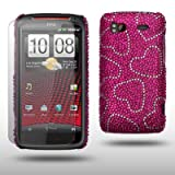 HTC SENSATION / HTC SENSATION XE HEARTS DIAMANTE DISCO BLING BACK COVER CASE WITH SCREEN PROTECTOR BY CELLAPOD CASESby CELLAPOD