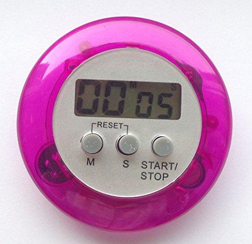 careforyou® machen Elektronische LCD Display runden Digital Kochen Timer Küche Timer Countdown Uhr Alarm Stoppuhr Maximale bis 99Minuten 59Sekunden Rose red