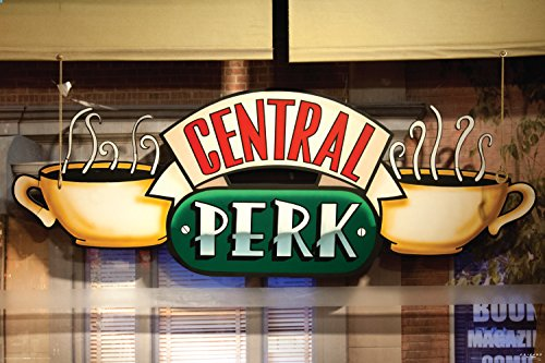 Friends Central Perk Window (Coffee Logo) TV Television Show Poster Print 24x36 (Central Perk Wall Art compare prices)