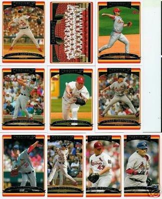 2006 Topps St. Louis Cardinals Baseball Cards Complete Team Set (24 cards) - Includes 2 Albert Pujols, Scott Rolen, Jim Edmonds, Chris Carpenter, Tony LaRussa, David Eckstein, Team Card, and more - World Series Champions !!