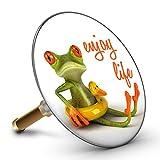 Bath Plopp Frog Enjoy Life Bath Plug, Sink Plug, Bathtub Drain Plug, Drain Stopper, 4250