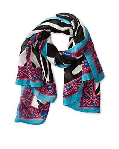 Theodora & Callum Women's Botswana Tie All Scarf, Black Multi