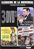 Cecil B DeMille (3 DVD Pack) - Union Pacific / The Sign of the Cross / The Crusades (Union Pacifico / El Signo De La Cruz / Las Cruzadas) Spanish PAL region 2 import, plays in English