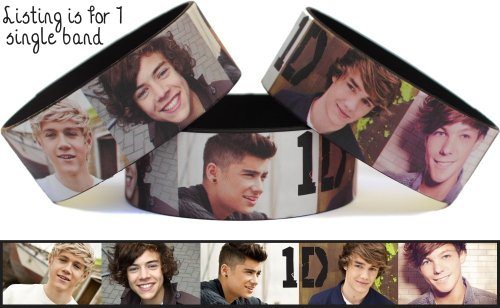 Picture Wristband One Direction Black Inside