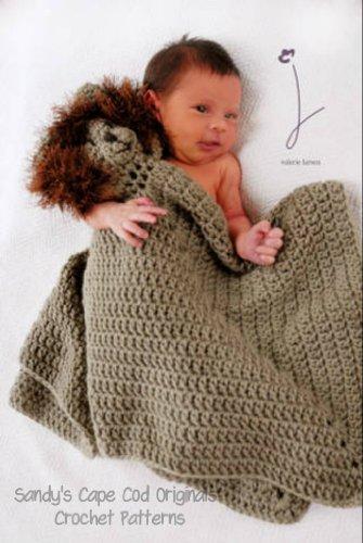 Cowardly Lion toy lovie blankie afghan crochet pattern