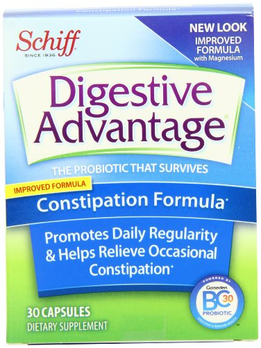Digestive Advantage Daily Constipation Formula, 30-Count Capsules (Pack of 2)