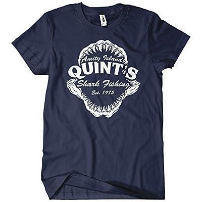 Quint's Shark Fishing Amity Island T-Shirt Tee Jaws Funny 70's Movie T Orca