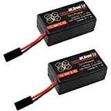 Tera 2 Pcs 1500mah Upgrade Battery for Parrot Ar.drone 2.0 Power Edition Helicopter