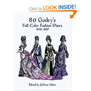 80 Godey's Full-Color Fashion Plates (1838-1880) [Paperback]