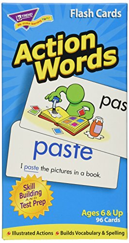 Action Words Skill Drill Flash Cards, Pack of 96 Card Game