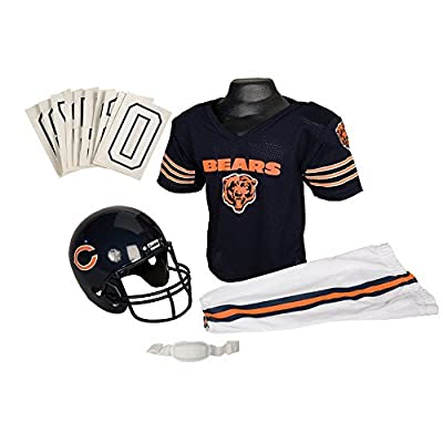 Chicago Bears Youth NFL Deluxe Helmet and Uniform Set