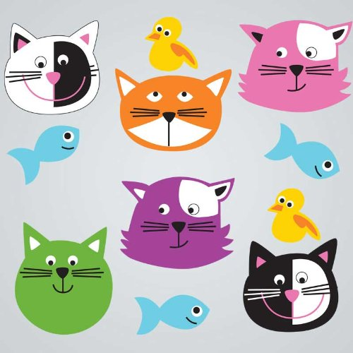 GelGems Cute Cats Large Bag Gel Clings - 1