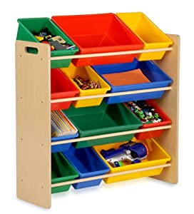 Honey-can-do Srt-01602 Kids Toy Organizer And Storage Bins Naturalprimary by Honey-Can-Do