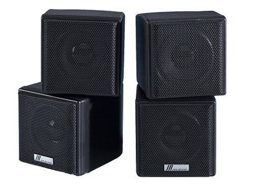 "Ja Audio 3.5"" Mini Cube Speakers - Black (Pair)"