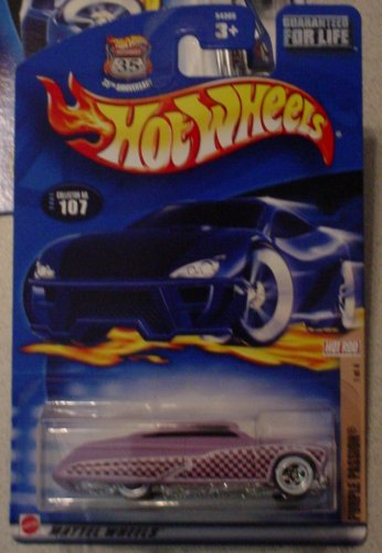 Hot Wheels 2002 107 Hot Rod Magazine PURPLE PASSION 1/4 1:64 Scale - 1