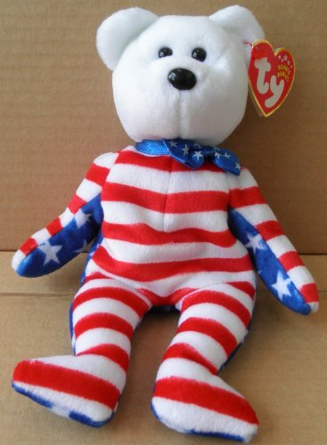 TY Beanie Babies Liberty Bear Plush Toy Stuffed Animal