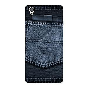 Delighted Navy Jeans Pocket Back Case Cover for OnePlus X