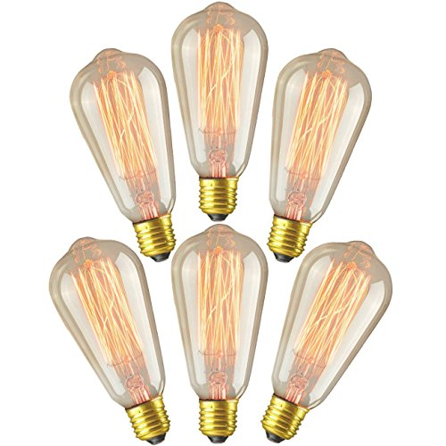 Monkeybrother Vintage Antique Style Edison Bulb 60w Filament Long Life Incandescent Clear Glass