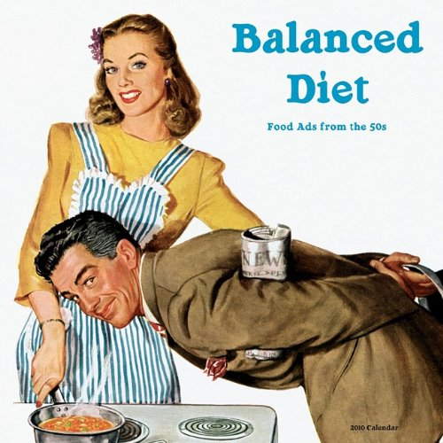 Balanced Diet Calendar: Food Ads from the 50s