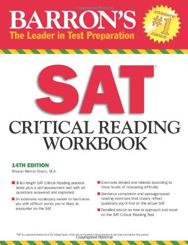 Sharon Weiner Green M.A. - Barron's SAT Critical Reading Workbook, 14th Edition (Critical Reading Workbook for the Sat)