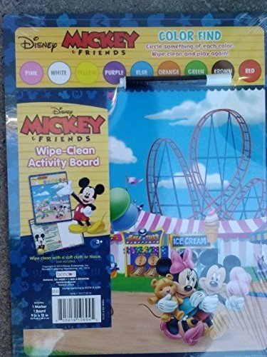 Disney Mickey & Friends Color Find Wipe Clean Activity Board