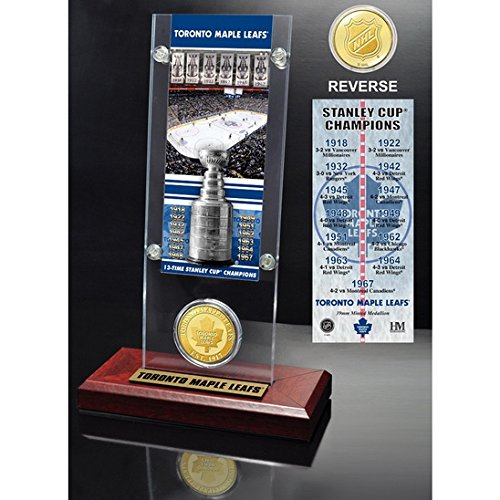 Toronto Maple Leafs 13x Stanley Cup Champions Ticket and Bronze Coin Acrylic Display-By BlueTECH