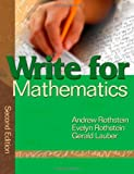 img - for Write for Mathematics book / textbook / text book