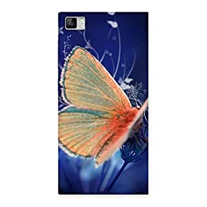 Special Yellow Thin Butterfly Back Case Cover for Xiaomi Mi3